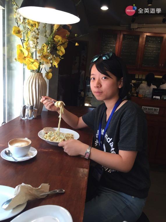 ▲ 吃素的同學也有素食的蘑菇義大利麵可以點唷!