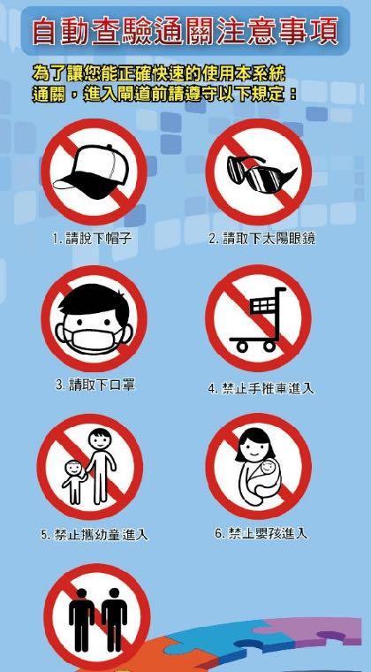 ▲ 記得把帽子、墨鏡、口罩都摘下來,以免影響臉部辨識