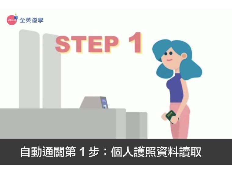 ▲ 機場自動通關第一步:個人護照資料讀取
