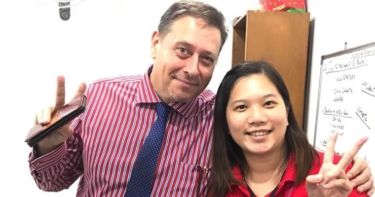 Baguio JIC~外師陪你開口說英文,Zoe 也來腦力激盪啦!素食學生友善推薦!