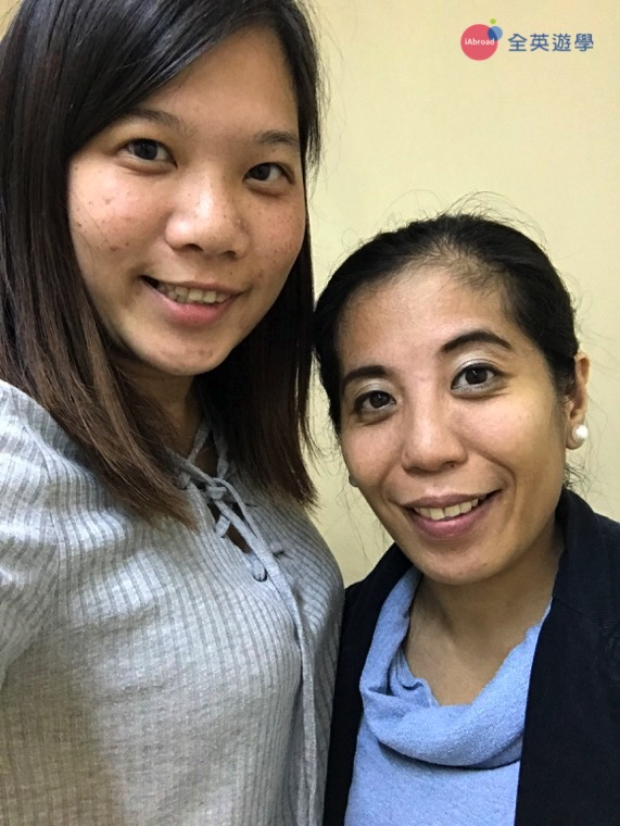 ▲ 團體口說課的 Teacher Athena 是 CNS2 的教務長,已經在這裡教了十年的雅思喔!