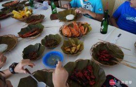 《English Fella 語言學校》週末活動,Nalusuan Island 海上餐廳吃午餐
