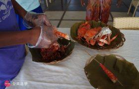 《English Fella 語言學校》週末活動,Nalusuan Island 海上餐廳,滿滿的蟹肉!