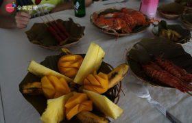 《English Fella 語言學校》週末活動,Nalusuan Island 海上餐廳,還有水果可以吃!