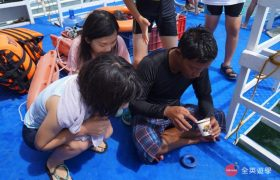 《English Fella 語言學校》週末活動,Nalusuan Island 跳島浮淺,裝魚餌釣魚囉!