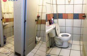 《Baguio JIC 語言學校》學生宿舍廁所