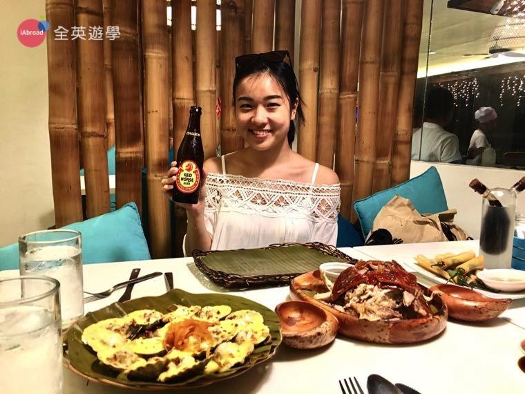 ▲ 考上空姐了!正式受訓前來菲律賓遊學,除了唸英文,當地美食也不能錯過唷!