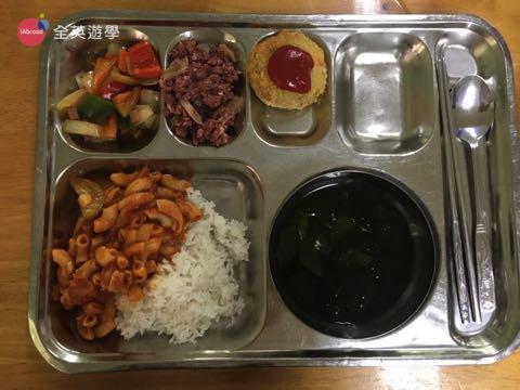 ▲ 學校午餐菜色