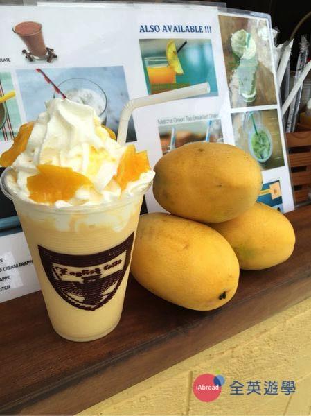 ▲ 學生大推 Cafella 餐廳的芒果奶昔!夏天來一杯超級享受~