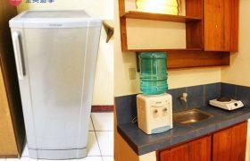 《Baguio JIC 語言學校》口說強化&雅思校區 (PSI) 學生宿舍,提供冰箱、飲水機、爐子,學生餓了就可以煮泡麵吃喔!