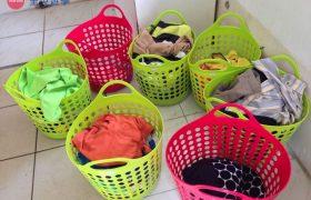 《English Fella 語言學校》學生宿舍,每個學生都有自己專屬的洗衣籃