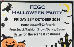 《First English 語言學校》「Holloween Party 萬聖節派對」,除了有免費點心,大家還會一起跳舞、玩遊戲!