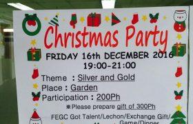 《First English 語言學校》「Christmas Party 聖誕節派對」,有交換禮物的活動~