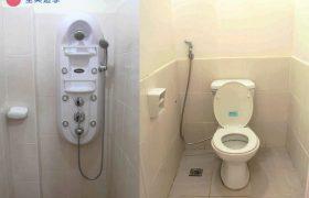 《First English 語言學校》宿舍的廁所和淋浴設備是分開的!不會有想上廁所卻遇到室友在洗澡的狀況!