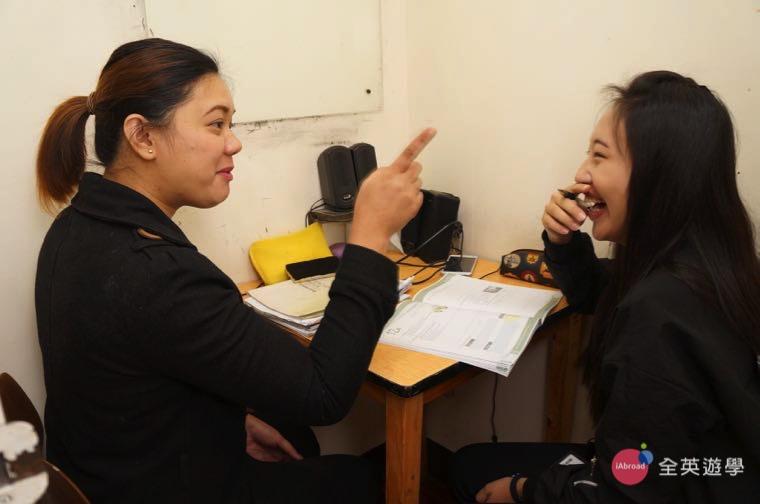 ▲ 碧瑤語言學校一對一密集英文,讓學生能夠用英文和老師大量練習口說!