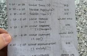 CNS 2 碧瑤學校,學生課表