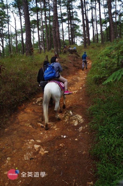 ▲ Camp John Hay 騎馬去,準備上坡囉~