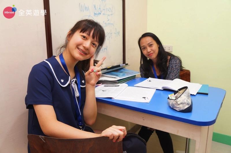 ▲ 全英學生 Amy 最大的轉變就是從一開始講英文總是緊張,變的喜歡用英文交朋友!