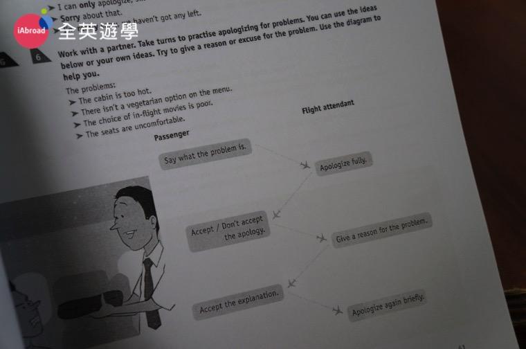 ▲ 碧瑤 Monol 學校空姐英文課程的教材