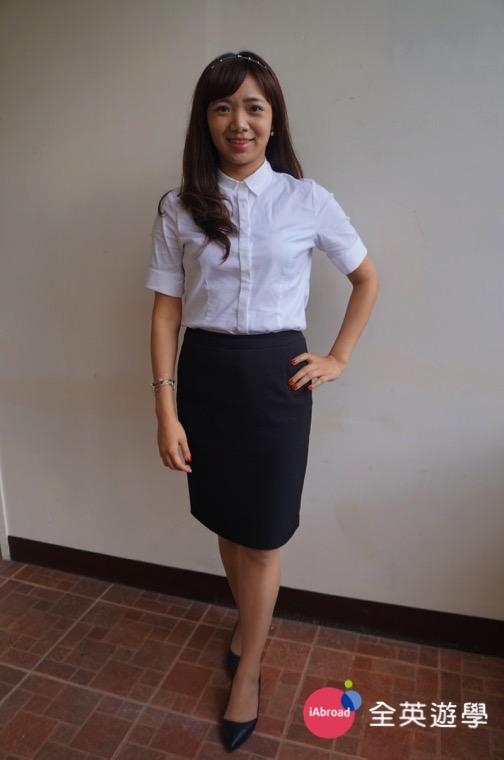 ▲ Monol 的空姐課程把我變得更有自信!我還特地面試服裝參加校內英文模擬面試!