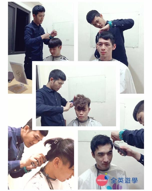 ▲ 在 Monol學校待了16周,認識了很多韓國、日本、台灣的好朋友~ 髮型設計是我的專業也是我的興趣,有空的時候也會幫同學剪個頭髮~ 「Monol 理髮廳首席設計師」!想剪頭髮要先拿號碼牌啦~哈哈