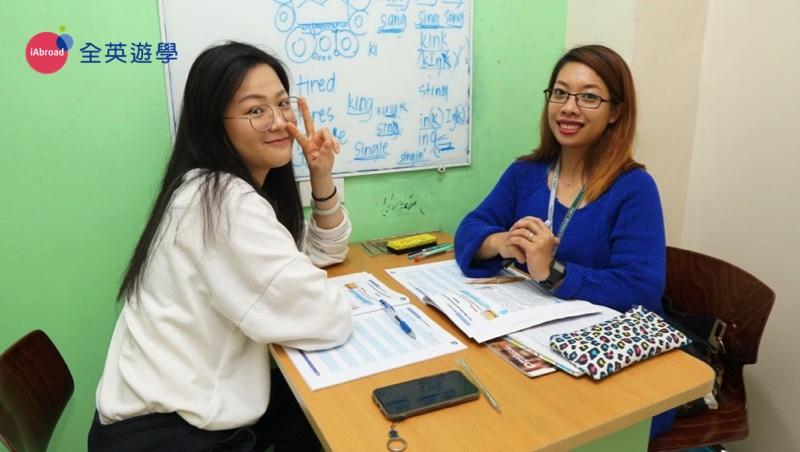 ▲ Ivy 和姊姊一起到碧瑤PINES遊學,從超基礎程度Level2,一路進步到Level 6 進入PINES 學校的高級校區 Chapis 讀書!進步超多!棒棒~