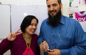 《PINES 語言學校》Cooyeesan 老師&中東學生