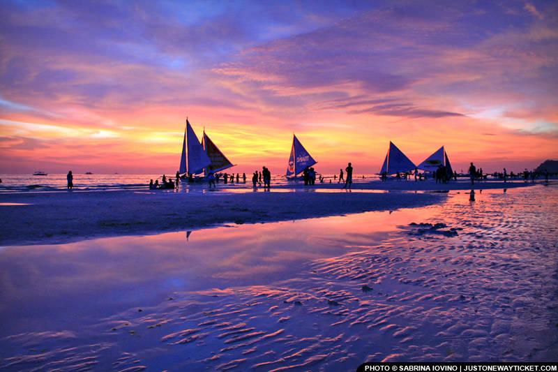 長灘島帆船節的美麗夕陽 Colorful sunsets