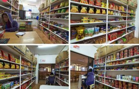 TALK Yangco 語言學校的福利社,有玲琅滿目的韓國與日本零食