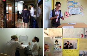 《TALK 語言學校》韓國學生經理,為全英遊學顧問導覽學校環境與上課狀況