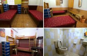 《TALK 語言學校》雙人房,每間都有床舖、個人衣櫃、衛浴、桌椅、小型除濕機
