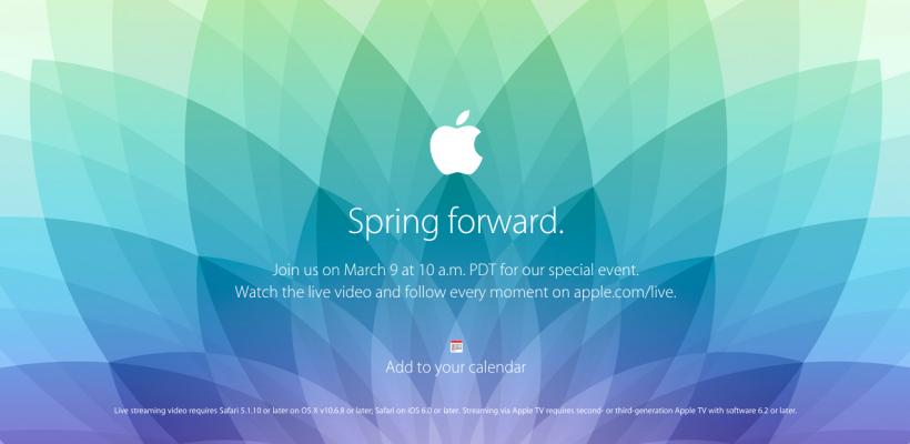 """2015 蘋果發表會邀請函上的 """"Spring forward"""" 中文是什麼意思?"""