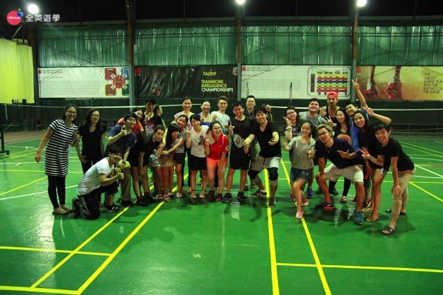 全英菲律賓遊學心得分享_CIP 克拉克語言學校週三活動羽球比賽
