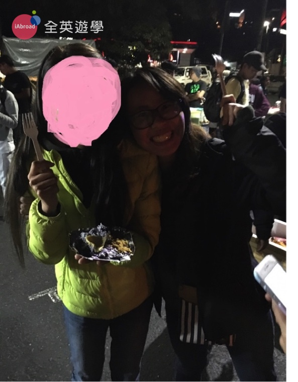 ▲ 這是我們逛碧瑤夜市的合照,我怕被他殺,故以馬賽克處理,哈哈哈!