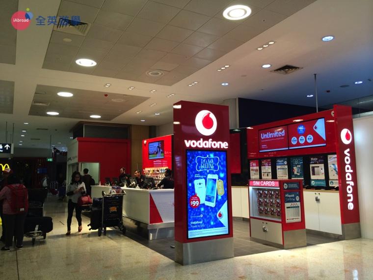 ▲ Vodafone 也是澳洲知名電信業者,不過使用者多為歐洲的背包客,費率較高一些 。
