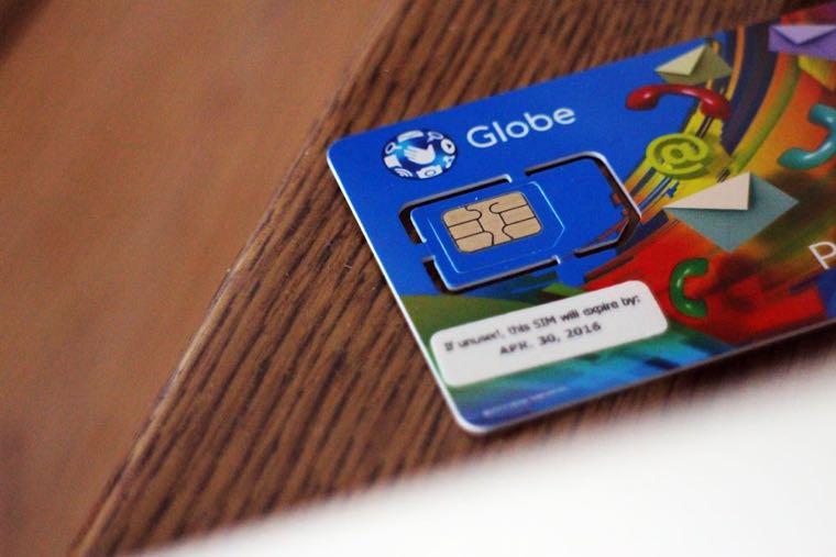 ▲ 菲律賓電信 Globe Telecom 的預付卡,我自己就是加值這家~