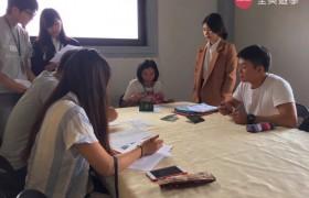 BECI 碧瑤學校學生報到第一天,學生填寫入學資料