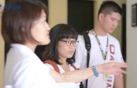 SMEAG 新生第一天,學生助教會帶學生參觀校園-校園環境介紹