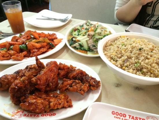 ▲ Good Taste 真的滿便宜,炒飯、糖醋里雞、炒青菜...也都滿好吃的,很台灣口味
