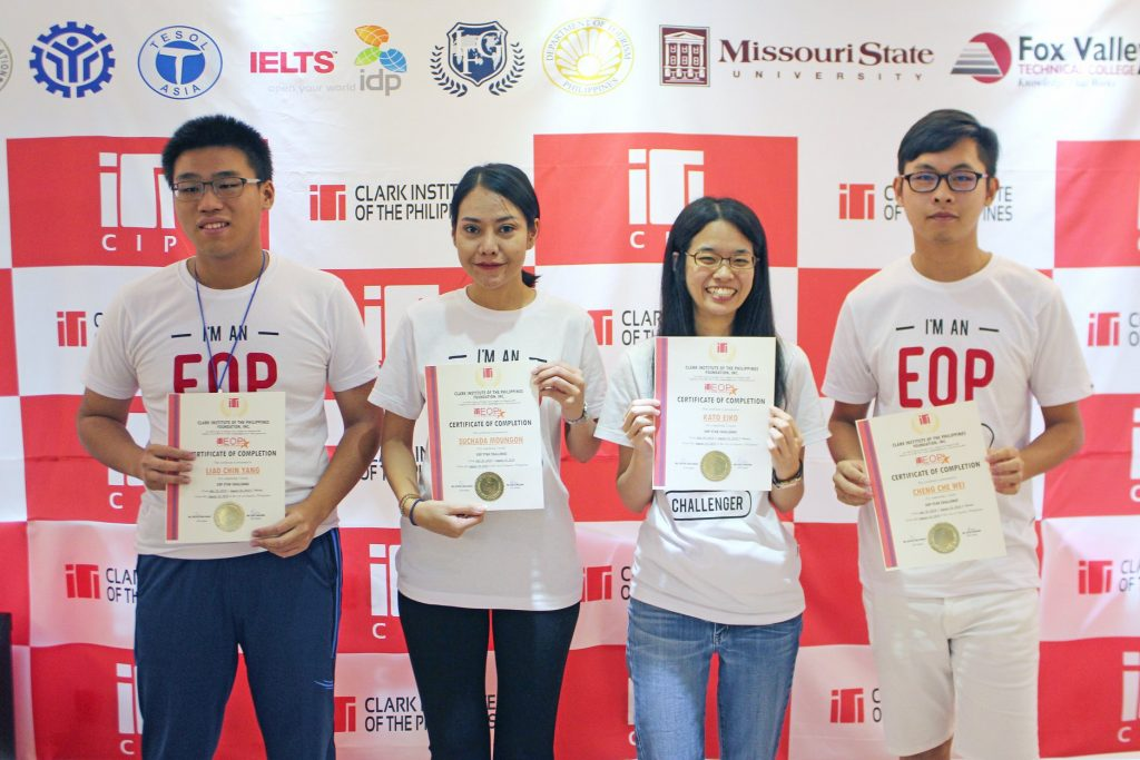 ▲ 參加 EOP其實有滿多好處的,除了可以有一件EOP學生專屬的T-Shirt之外,強迫自己要多講英文,在很多同學面前上台做簡報,也以訓練膽量哈哈,最後還可以達到EOP證書。